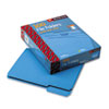 File Folders, 1/3 Cut Top Tab, Letter, Blue, 100/Box