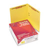 Two-Inch Capacity Fastener Folders, Straight Tab, Letter, Yellow, 50/Box