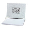 Pressboard Hanging Data Binder, 14-7/8 x 11 Unburst Sheets, Light Gray