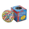 Rubber Band Ball, Approximately 250 Rubber Bands, Assorted