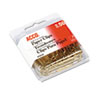 Paper Clips, Metal Wire, Jumbo, 1 3/4, Gold Tone, 50/box