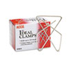 Ideal Clamps, Metal Wire, Large, 2 5/8, Silver, 12/box