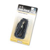 Coiled Phone Cord, Plug/Plug, 12 ft., Black