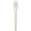 "6"" cutlery made from plant starch and oil."