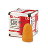 Rubber Finger Tips, 13 (large), Amber, Dozen