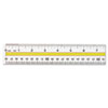Acrylic Data Highlight Reading Ruler With Tinted Guide, 15 Clear