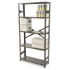 Commercial Steel Shelving, Five-Shelf, 36w x 12d x 75h, Medium Gray