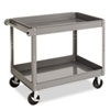 Two-Shelf Metal Cart, 24w x 36d x 32h, Gray