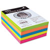 Fluorescent Color Memo Sheets, 20 lb, 4 x 6, Assorted, 500 Sheets/Pack