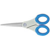 Soft Handle Scissors With Antimicrobial Protection, Blue, 7 Straight