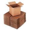 Heavy-duty 200-lb test brown corrugated Kraft shipping carton assembles with shipping tape.