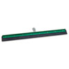 "AquaDozer Heavy-Duty Squeegee, Black Rubber, Straight, 24"" Wide Blade"
