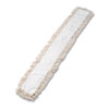 Industrial Dust Mop Head, Hygrade Cotton, 60w X 5d, White
