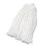 Cut-End Wet Mop Head, Rayon, No. 32, White
