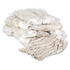 Premium Cut-End Wet Mop Heads, Cotton, 20oz, White, 12/carton