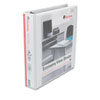 "Economy D-Ring Vinyl View Binder, 1-1/2"" Capacity, White"