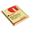 Preprinted plastic coated tab index divider set.