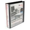 "Universal Round Ring Economy Vinyl View Binder, 1-1/2"" Capacity, Black UNV20971-BULK"