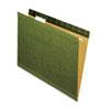 Reinforced Recycled Hanging Folder, 1/5 Cut, Letter, Standard Green, 25/box