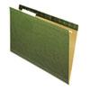 Reinforced Recycled Hanging Folder, 1/3 Cut, Legal, Standard Green, 25/box