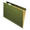 Reinforced Recycled Hanging Folder, 1/5 Cut, Legal, Standard Green, 25/box