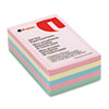 Self-Stick Notes, 4 x 6, Lined, 4 Pastel Colors, 5 100-Sheet Pads/Pack