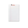 Perforated Edge Writing Pad, Jr. Legal Rule, 5 x 8, White, 50-Sheet, Dozen