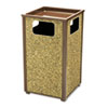 Aspen Series Sand Urn/Litter Receptacle, Square, Steel, 24 gal, Brown