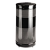Classics Perforated Open Top Receptacle, Round, Steel, 25gal, Black