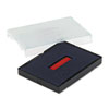 Trodat T4727 Dater Replacement Pad, 1 5/8 X 2 1/2, Blue/red