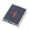 T5470 Dater Replacement Ink Pad, 1 5/8 X 2 1/2, Blue/red