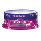 DVD+R Discs, 4.7GB, 16x, Spindle, Silver, 25/Pack VER95033