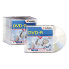 DVD-R Discs, 4.7GB, 16x, w/Slim Jewel Cases, 10/Pack VER95099