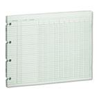 Accounting Sheets, 10 Column, 9-1/4 x 11-7/8, 100 Loose Sheets/Pack, Green WLJG1010