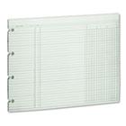 Accounting Sheets, Three Column, 9-1/4 x 11-7/8 , 100 Loose Sheets/Pack, Green WLJG103