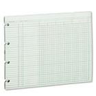 Accounting Sheets, Six Column, 9-1/4 x 11-7/8, 100 Loose Sheets/Pack, Green WLJG106
