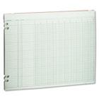 Accounting Sheets, 10 Columns, 11 x 14, 100 Loose Sheets/Pack, Green WLJG3010