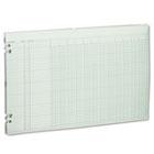 Accounting Sheets, 12 Columns, 11 x 17, 100 Loose Sheets/Pack, Green WLJG5012