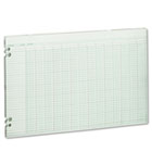 Accounting Sheets, 24 Columns, 11 x 17, 100 Loose Sheets/Pack, Green WLJG5024