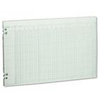 Accounting Sheets, 30 Columns, 11 x 17, 100 Loose Sheets/Pack, Green WLJG5030