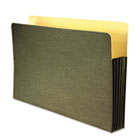 Recycled File Pocket, Straight Cut, Legal, 3 1/2 Inch Expansion, Green WLJWCC78RG