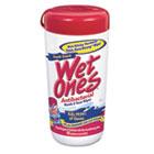 Antibacterial Moist Towelette, Cloth, 5 3/4 x 7 1/2, White, 40/Dispenser PLX04703