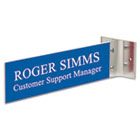 Custom Engraved Hallway Sign, 2x10, Gold Holder USS1775