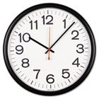 "Indoor/Outdoor Clock, 13-1/2"", Black UNV11381"
