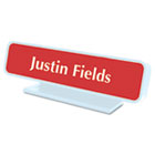 Architectural Desk Sign with Name Plate, Gray, Radius Edge USS5700
