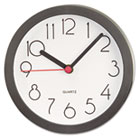 "Cubicle Clock, 6"", Black UNV10411"