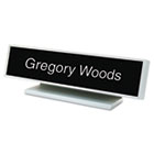 Architectural Desk Sign with Name Plate, Gray, Square Radius USS5701