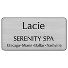 Customized Engraved Name Badge With Magnetic Fastener, 1 1/2 x 3, Assorted USS4346M