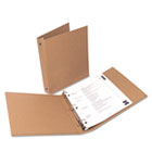 "Eco-Friendly Round Ring Natural Kraft Binder, 11 x 8-1/2, 1"" Capacity UNV28001"