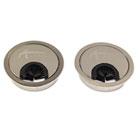 Valencia Series Optional Grommets, 2-5/8 Diameter, Silver Metal, 2/Pack ALEVA503333